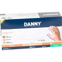 Luva De Procedimento Danny Vinil Sem Pó 'G | Caixa com 100 unidades - Cod. 7896353821385C100