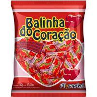 Bala Florestal Coração Morango 500g - Cod. 7896321014962