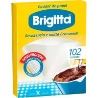 Filtro De Café Papel Brigitta 102   Caixa com 30 unidades - Cod. 7891021002110C6