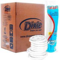 Tampa Dixie Transparente Para Copo De 300ml| Caixa com 20 unidades - Cod. 7891198002531C20