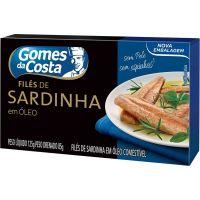 File De Sardinha Gomes Da Costa 125g | Caixa com 24 unidades - Cod. 7891167022010C24