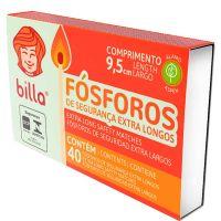 Fósforo Billa Extra Longo | Caixa com 10 unidades - Cod. 17898643020024C10
