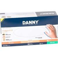 Luva De Procedimento Danny Vinil Sem Pó 'P' | Caixa com 100 unidades - Cod. 7896353821361C100