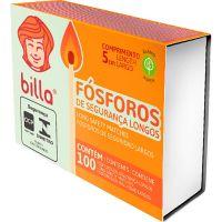 Fósforo Billa Longo   Caixa com 150 unidades - Cod. 7898958192112C150