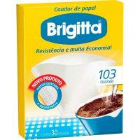 Filtro De Café Papel Brigitta 103   Caixa com 6 unidades - Cod. 7891021002134C6