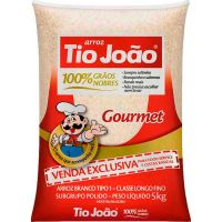 Arroz Branco Gourmet Tio João 1kg | Caixa com 10 Unidades - Cod. 7893500058526C10