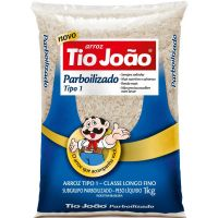 Arroz Parboilizado Tio João 1kg | Caixa com 10 Unidades - Cod. 7893500018568C10