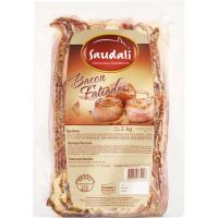 Bacon Fatiado Saudali 1kg   Caixa com 5un - Cod. 7898229384093C5