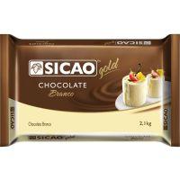 Cobertura de Chocolate em Barra Sicao Gold Branco 2,1Kg - Cod. 20842033752