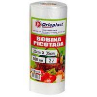 Bobina Plástica Picotada Orleplast 2L 500un - Cod. 7897257113606