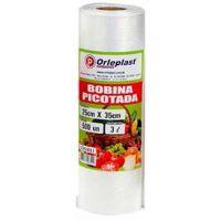 Bobina Plástica Picotada Orleplast 3L 500un - Cod. 7897257113613
