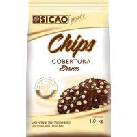 Chips Chocolate Branco Gotas Sicao 1kg - Cod. 20842053446