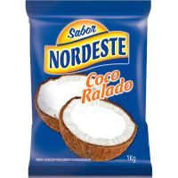 Coco Ralado Úmido e Adoçado Sabor Nordeste 1kg - Cod. 7898370105318