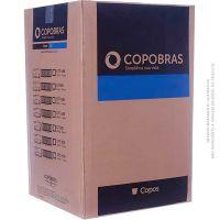 Copo Descartavel PP 180ml Translúcido Copobras | Caixa com 25X100un - Cod. 7896030892646C25