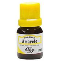 Corante Líquido Amarelo Arcolor 10ml | Caixa com 12 Unidades - Cod. 7896226300016C12