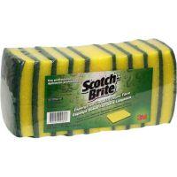 Esponja para Limpeza Scotch Brite Multiuso | Com 10 Unidades - Cod. 7891040094813C10
