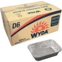 Forma de Alumínio com Tampa D6 Wyda 500ml | Caixa com 100un - Cod. 7898930672151C100