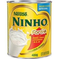 Leite em Pó Integral Nestlé Ninho 400g - Cod. 7891000140307