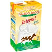 Leite Integral Vale Dourado 1L | Caixa com 12un - Cod. 17896085310369C12