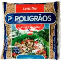 Lentilha Poligrãos 500g | Caixa com 20un - Cod. 7896752401782C20