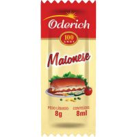 Maionese Oderich 8g | Com 200 Unidades - Cod. 7896041190311