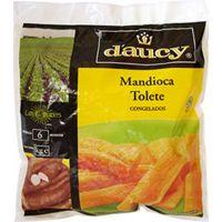 Mandioca Tolete Congelada Daucy 1Kg | Caixa com 10 Unidades - Cod. 3248454098120C10