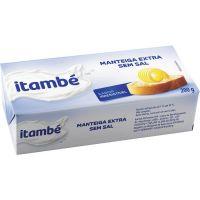 Manteiga Itambé sem Sal Tablete 200g   Caixa com 25 Unidades - Cod. 7896051135111C25