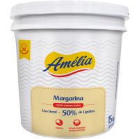 Margarina Amélia Uso Geral com Sal 50% de Lípidio Balde 15kg - Cod. 7896096013245
