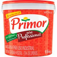 Margarina Primor 15kg - Cod. 7891080403712