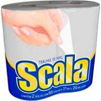 Papel Toalha 21x20cm Scala 2 Rolos - Cod. 7896006413851C12