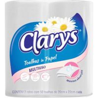 Papel Toalha Folha Dupla 50F Bob Clarys | Fardo com 12x12un - Cod. 7896089404708
