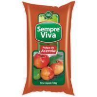 Polpa de Fruta Acerola Sempre Viva 100g | Caixa com 12 Unidades - Cod. 7897032401492C12
