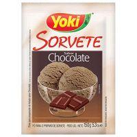 Pó para Sorvete Yoki Chocolate 150g | Caixa com 12 Unidades - Cod. 7891095009909C12