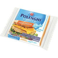 Queijo Cheddar Light Fatiado Sandwich-In Polenghi 144g | Caixa com 20 Unidades - Cod. 7891143011069C20