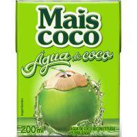 Água de Coco Mais Coco Tetra Pack 200ml - Cod. 7896004401836C24