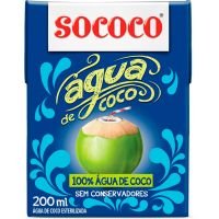 Água de Coco Sococo 200ml - Cod. 7896004400358