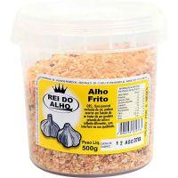 Alho Frito Rei do Alho Pote 500g | Caixa com 15 Unidades - Cod. 7898239020134C15