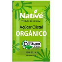 Açúcar Cristal Orgânico Native Sachê 5g | Com 1000 Unidades - Cod. 17898206500185
