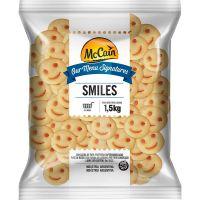 Batata Congelada Smiles McCain Pacote 1,5kg | Caixa com 6 Unidades - Cod. 7896105800026C6