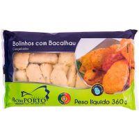 Bolinho de Bacalhau Bom Porto 360g | Caixa com 24 Unidades - Cod. 5608190410026C24