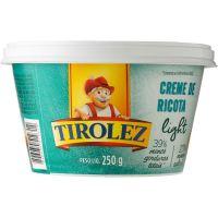 Creme de Ricota light Tirolez 200g   Caixa com 16 Unidades - Cod. 7896030519611C16