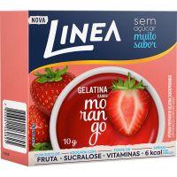 Gelatina Diet sabor Morango Linea 10g - Cod. 7896001260825