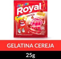 Gelatina em pó Royal Cereja 25g   Caixa com 15 unidades - Cod. 7622300859985C15