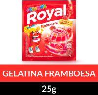 Gelatina em pó Royal Framboesa 25g   Caixa com 15 unidades - Cod. 7622300859947C15