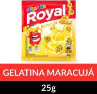 Gelatina em pó Royal Maracujá 25g   Caixa com 15 unidades - Cod. 7622300859862C15