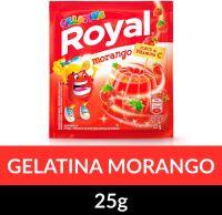 Gelatina em pó Royal Morango 25g   Caixa com 15 unidades - Cod. 7622300859824C15