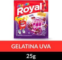 Gelatina em pó Royal Uva 25g   Caixa com 15 unidades - Cod. 7622300859787C15