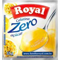 Gelatina Royal Zero 12g Maracuja | Caixa com 12 unidades - Cod. 7622300172992C12