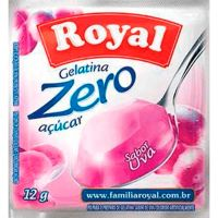 Gelatina Royal Zero 12g Uva | Caixa com 12 unidades - Cod. 7622300172947C12