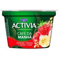 Leite Fermentado sabor Morango, Banana e Maça Café da Manhã Activia 400g - Cod. 17891025107160